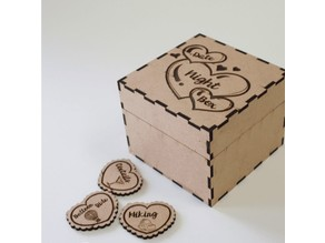 Date night box with 49 hearts
