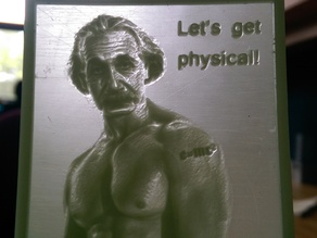 ''Lets Get Physical'' Lithophane Meme