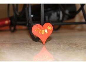 I Luv U heart pendant
