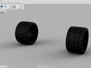 Low Profile Rain Tires for OpenR/C F1 car