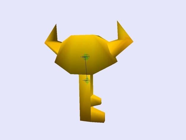 Bowser Key Mario 64 By Namedjohnny Thingiverse