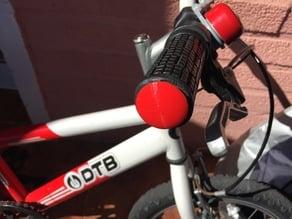 Small mountain bike handlebar end cap