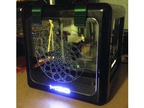 M3D 3mm Acrylic (plexiglass) enclosure, 3D printed and laser cut