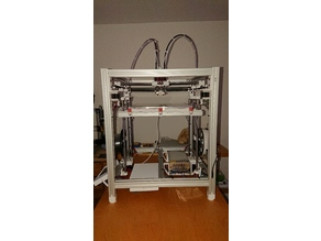 Hypercube Evolution, My vers. DualHotend, XCarriage YCarriage 10mm Horizontal Rods, ZAxis 10mm Rods, Belt tensioning
