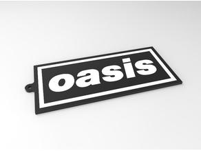 Dual Color_Oasis Band Logo_Keychain