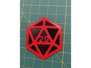 D20 Multi-Color Coaster