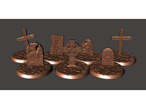 28mm Undead Skeleton Warrior Grave Bases