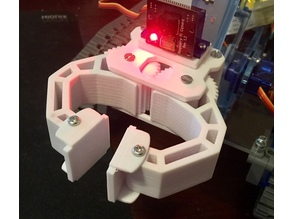 Solid MeArm remix of RobotGeek 9G gripper