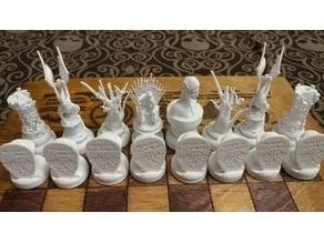 GoT inspired chess board