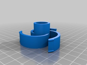 Spiral filament spool holder/hub with LM8UU