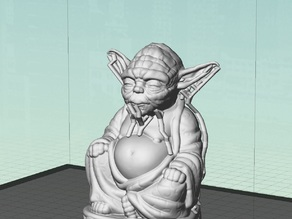 Budda Yoda with Support