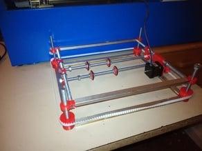 k40 laser cutter bed upgrade