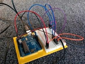 Arduino Uno and Half Breadboard