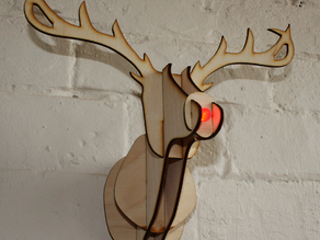 Mounted Rudolph Head