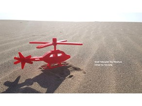 Small Helicopter Toy Miniature