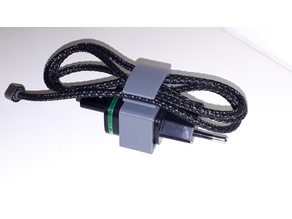 USB cable clip with holder on USB charger
