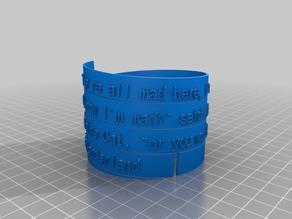 I'm Mad Spiral Poem Bracelet Mark 2
