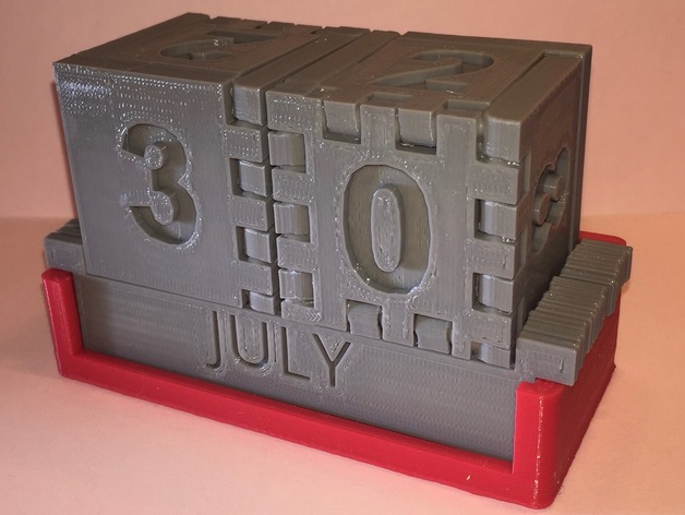 Block Calendar By Devansic Thingiverse