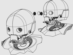 ROBOT EYES FOR USE WITH K2SO INSPIRED HEAD