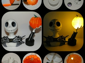 Nightmare before Christmas - Jack Skellington with Glowing Pumpkins