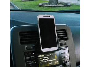 Moto G4/G4+ phone holder with car CD player adapter
