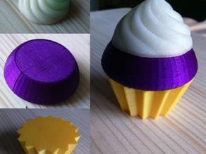 Violet cupcake part