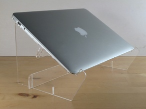 Laser-cut Laptop Stand for Macbook Air