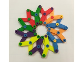 Make Sense of the Hoberman Sphere / Circle, Linkage
