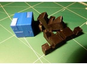 Burr Puzzle, Small Cube 4pc
