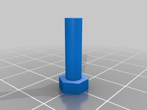 Customizable Bolt Blank for Cutting in CAD