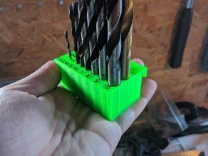 Detachable drillbit holder for tool wall