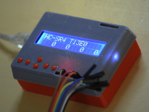 Configurable case for Arduino Uno with LCD keypad shield