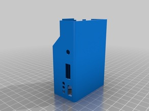 Raspberry Pi 3 Case with hole for 16mm button