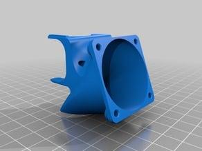 40mm Hotend Cooler with 40mm Part Cooler for e3d v6 by laubed (Split)