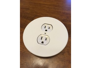 round outlet cover plate