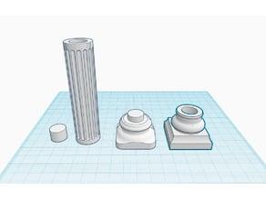 Doric Column (Separated Top, Bottom and Column)