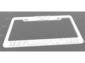 Weyland-Yutani, Aliens, License Plate Frame