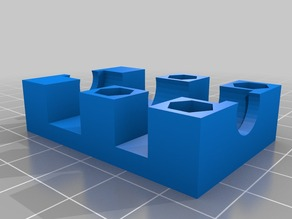 LM8LUU offset block with exact bearing dimensions