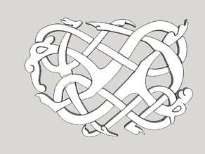 Viking pendant Urnes Style