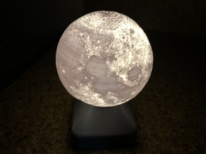 Moon globe LED lamp
