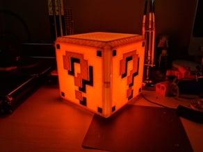 Mario Bros Question Block Lamp