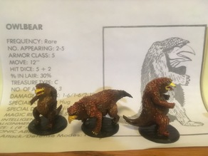 Owlbear through the ages- 1st editon ADnD