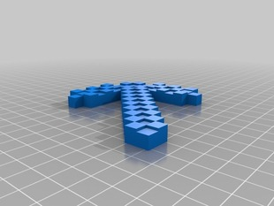 Minecraft Pickaxe thingy with relief per pixel