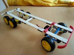 Monka 6x4 robot chassis