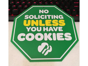 No Soliciting Girl Scout Cookies Sign
