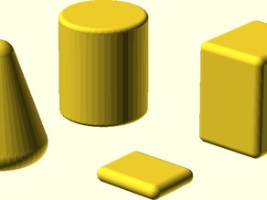 Rounded SCAD objects