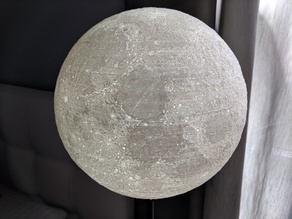 9-inch Moon Lamp for Small IKEA HEMMA Table Lamp