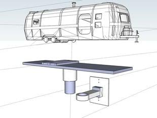 Air Stream Trailer Style Birdhouse