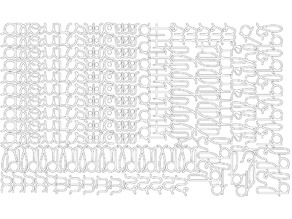 Movable Alphabet montessori cursive medium narrow for laser cutting