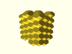 3D Honeycomb (Inspired by Slic3r)